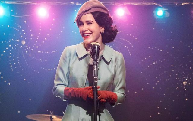 Rachel Brosnahan plays Midge Maisel in the Emmy-winning show 'The Marvelous Mrs. Maisel.' (Amazon Prime via JTA)