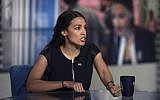 Alexandria Ocasio-Cortez on 'Meet the Press' in Washington, DC, July 1, 2018. (William B. Plowman/NBC/NBC NewsWire via Getty Images)