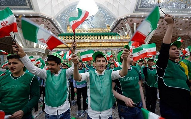 Chanting 'death to' America and Israel, Iran celebrates 40 years of revolution