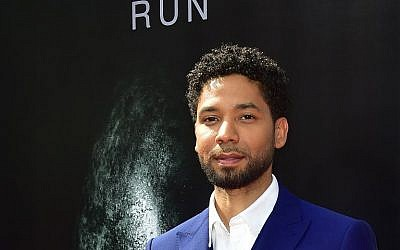 Actor Jussie Smollett arrives on the red carpet ahead of Sir Ridley Scott's Hand and Footprint ceremony in front of the TCL Chinese Theater in Hollywood, California, May 17, 2017. (Frederic J. Brown/AFP)