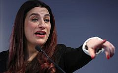 Former Labour party MP Luciana Berger speaks during a press conference in London on February 18, 2019, where she and colleagues announced their resignation from the Labour Party, and the formation of a new independent group of MPs. (Photo by Daniel LEAL-OLIVAS / AFP)