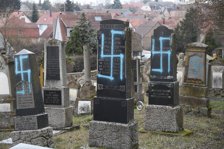 Netanyahu slams 'shocking' anti-Semitic vandalism in France