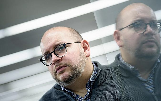 Jason Rezaian former Tehran bureau chief for the Washington Post who was imprisoned by Iranian authorities in 2014 poses for a portrait at the Washington Post