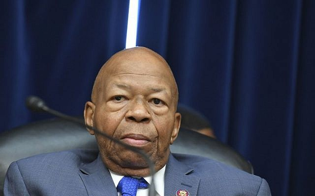 US House Oversight and Reform Committee chairman Rep. Elijah Cummings, a Maryland Democrat, at a hearing ahead of testimony by US President Donald Trump's former personal attorney Michael Cohen, in the Rayburn House Office Building on Capitol Hill in Washington, DC on February 27, 2019. (Mandel Ngan/AFP)