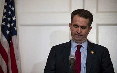 Virginia Governor Ralph Northam speaks with reporters at a press conference at the Governor's mansion on February 2, 2019 in Richmond, Virginia.  (Alex Edelman/Getty Images/AFP)