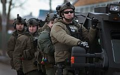 Police secure the area following a shooting at the Henry Pratt Company on February 15, 2019 in Aurora, Illinois. (Scott Olson/Getty Images/AFP)