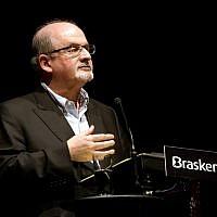 Salman Rushdie speaking in Sao Paulo on May 14, 2014. (Flickr/Greg Salibian/CC BY-SA)