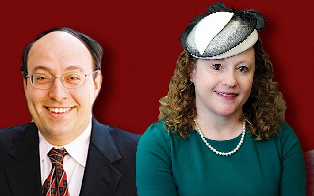Rabbi Nathaniel Helfgot and Marianne Novak. (Courtesy of the Jewish Standard/via JTA)