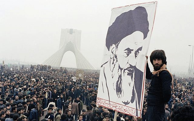 In this photo from October 9, 1978, Iranian protesters demonstrate against Shah Mohammad Reza Pahlavi in Tehran, Iran. (AP Photo, File)