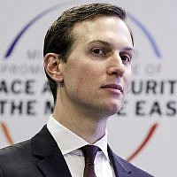 White House Senior Adviser Jared Kushner at a conference on Peace and Security in the Middle East in Warsaw, Poland, on February 14, 2019. (AP Photo/Michael Sohn)