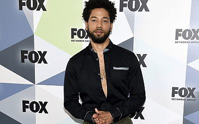 In this Monday, May 14, 2018 file photo, actor and singer Jussie Smollett attends the Fox Networks Group 2018 programming presentation after party at Wollman Rink in Central Park in New York.  (Photo by Evan Agostini/Invision/AP)