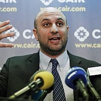 In this Jan. 30, 2017, file photo, attorney Gadeir Abbas speaks during a news conference at the Council on American-Islamic Relations (CAIR) in Washington.  (AP Photo/Alex Brandon,)