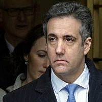 Michael Cohen, US President Donald Trump's former lawyer, leaves federal court after his sentencing in New York, on December 12, 2018. (AP Photo/Craig Ruttle, File)