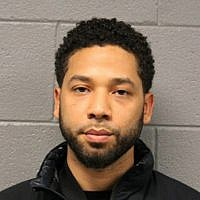 This February 21, 2019 photo released by the Chicago Police Department shows Jussie Smollett. (Chicago Police Department via AP)