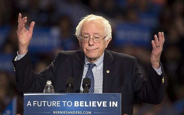 Democratic presidential candidate Sen. Bernie Sanders, Independent-Vermont, speaks during a rally in Greenville, South Carolina, February 21, 2016. (John Bazemore/AP)