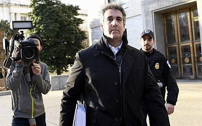 In this Feb. 21, 2019, photo Michael Cohen, US President Donald Trump's former personal attorney, leaves Capitol Hill in Washington. (AP/Susan Walsh)