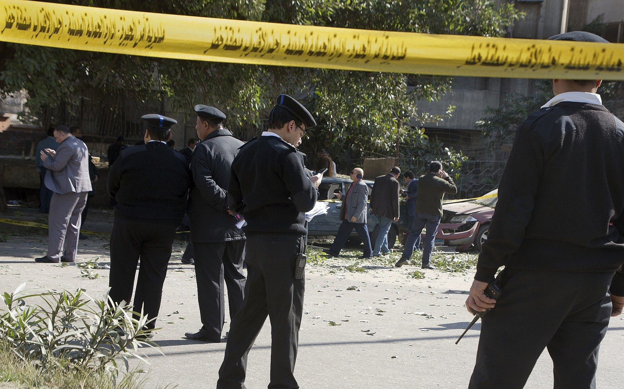 3 police officers killed in Cairo after device carried by militant explodes