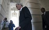 Special counsel Robert Mueller departs Capitol Hill following a closed door meeting, Wednesday, June 21, 2017, in Washington. (AP/Andrew Harnik)