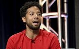 """Jussie Smollett participates in the """"Empire"""" panel during the FOX Television Critics Association Summer Press Tour at the Beverly Hilton on August 8, 2017, in Beverly Hills, California. (Photo by Willy Sanjuan/Invision/AP)"""