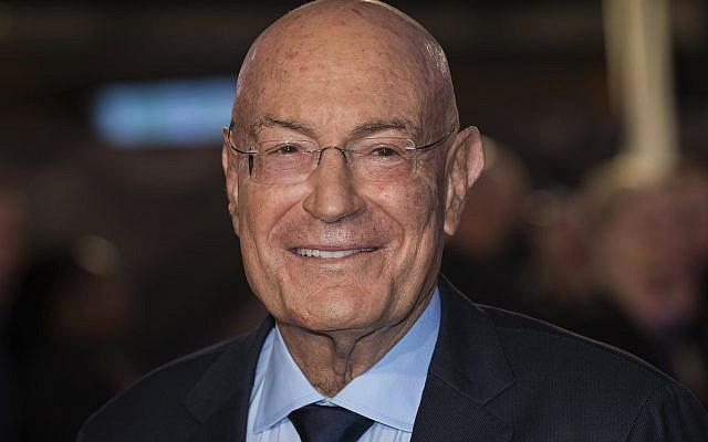 Arnon Milchan poses for photographers upon arrival at the premiere of the film 'Widows' showing as part of the opening gala of the BFI London Film Festival in London, on October 10, 2018. (Vianney Le Caer/Invision/AP)