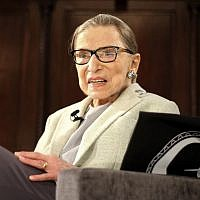 In this Dec. 15, 2018 photo, Supreme Court Justice Ruth Bader Ginsburg appears at an event organized by the Museum of the City of New York with WNET-TV held at the New York Academy of Medicine in New York. (AP Photo/Rebecca Gibian)