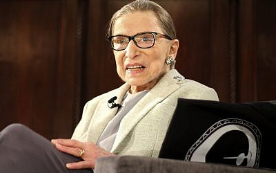 In this December 15, 2018 photo, Supreme Court Justice Ruth Bader Ginsburg appears at an event organized by the Museum of the City of New York with WNET-TV held at the New York Academy of Medicine in New York. (AP Photo/Rebecca Gibian)