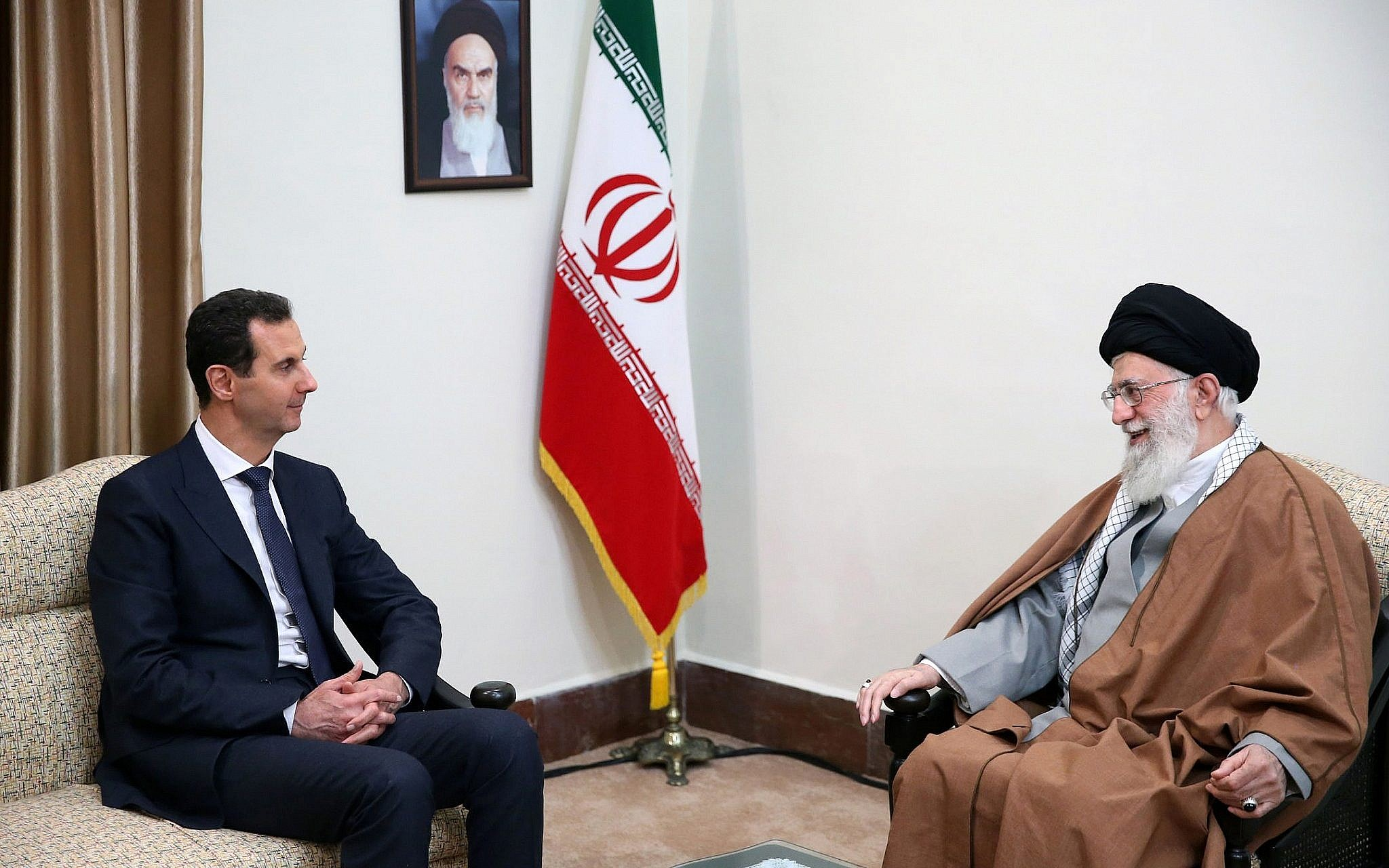 Syrian President Bashar Assad Meets With Iran Supreme Leader