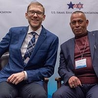 Avi Zimmerman and Ashraf Jabari (Eitan Tal via JTA)