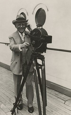 Universal Pictures president Carl Laemmle behind the camera. (Courtesy James L. Freedman.)
