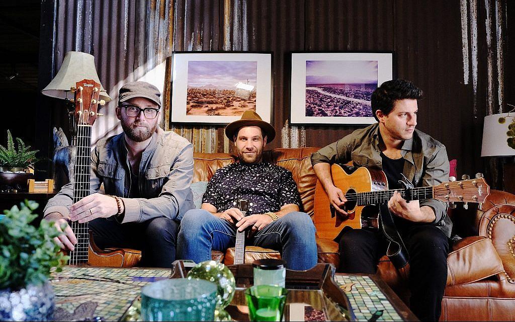 From left, Dov Rosenblatt, Duvid Swirsky and Ami Kozak of Distant Cousins. (Courtesy)