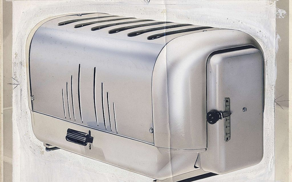 A Dualit toaster, 1952, part of a design exhibition at the 'Insiders/Outsiders' festival highlighting the contributions to British society by refugees from Nazi Europe. (Courtesy)