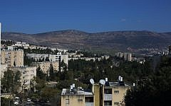 View of the northern Israeli town of Carmiel. March 2, 2016. (FLASH90)
