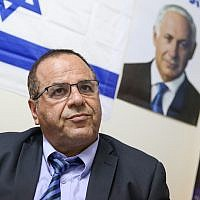Communications Minister Ayoub Kara attends a press conference in the Northern Israeli city of Safed, July 10, 2018. (David Cohen/Flash90)