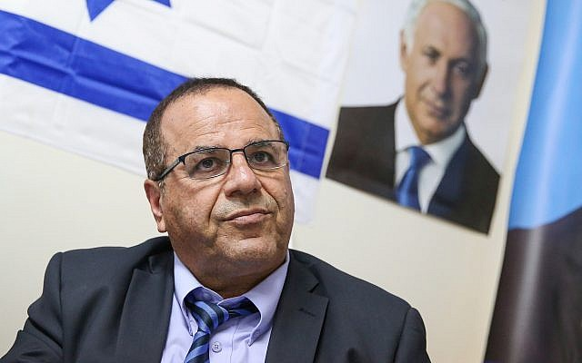 Communications Minister Ayoub Kara at a press conference in the northern city of Safed, July 10, 2018. (David Cohen/Flash90)