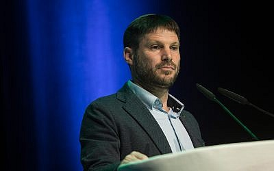Head of the National Union party MK Bezalel Smotrich, speaks during an event of the Movement for the Quality of Government, in Modi'in, February 4, 2019. (Hadas Parush/Flash90)