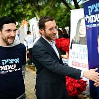 MK Itzik Shmuli casts his vote at a Labor Party polling station in Tel Aviv on February 11, 2019. (Tomer Neuberg/Flash90)