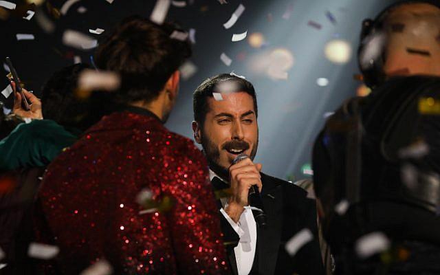 Kobi Marimi, who will represent Israel at the 2019 Eurovision song contest. (Noam Revkin Fenton/Flash90)
