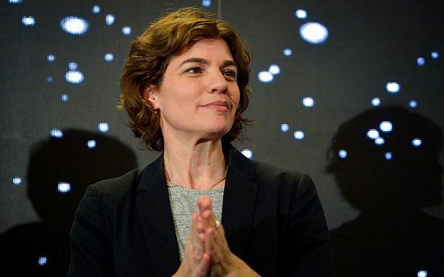 Meretz party leader MK Tamar Zandberg at Meretz primaries in Tel Aviv on February 14, 2019. (Flash90)