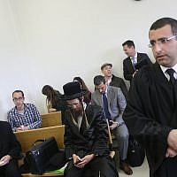 A bail hearing for Malka Leifer at the Jerusalem District Court chambers of Judge Ram Vinograd on February 18, 2019. (Yonatan Sindel/Flash90)