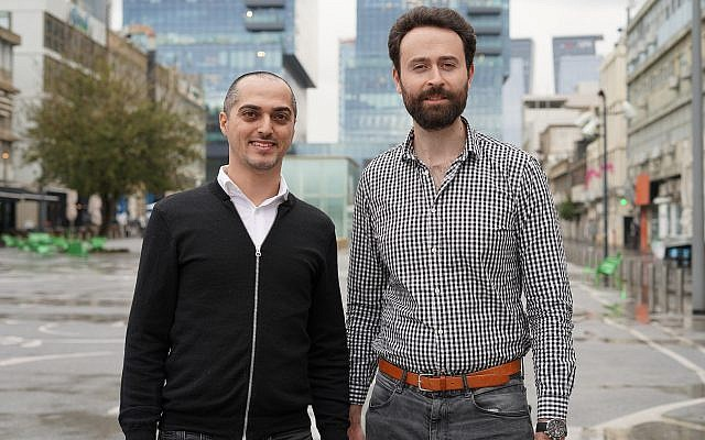 Tastewise founders Alon Chen, left, and Eyal Gaon (Omer Kalderon)