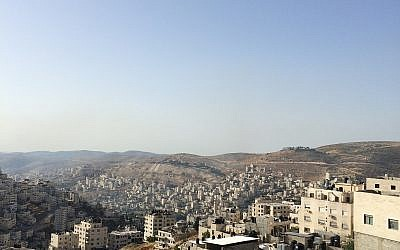 A view of Nablus in the northern West Bank. (Adam Rasgon/The Times of Israel)