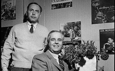Alfred Lion, seated, and Francis Wolff. (Courtesy Mosaic Images LLC)