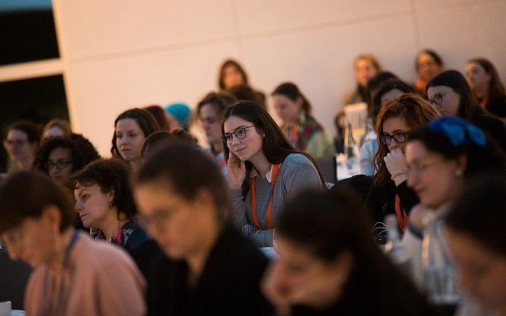 Women listening to a presentation at the first-ever Jewish Women's Empowerment Summit in Frankfurt, Germany, February 21-24, 2019. (Courtesy)