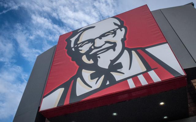 A Kentucky Fried Chicken logo. (Matt Cardy/Getty Images)