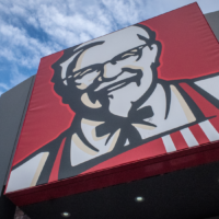 A Kentucky Fried Chicken logo. (Matt Cardy/Getty Images)