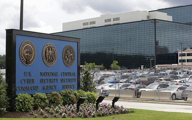 This June 6, 2013 file photo shows the National Security Administration (NSA) campus in Fort Meade, Md at a time when the American Civil Liberties Union, Wikimedia and other groups were suing the National Security Agency over its surveillance practices. (AP Photo/Patrick Semansky, File)