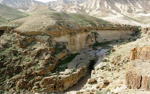 Darga River near the Dead Sea. (Wikipedia/Attribution/Ester Inbar)