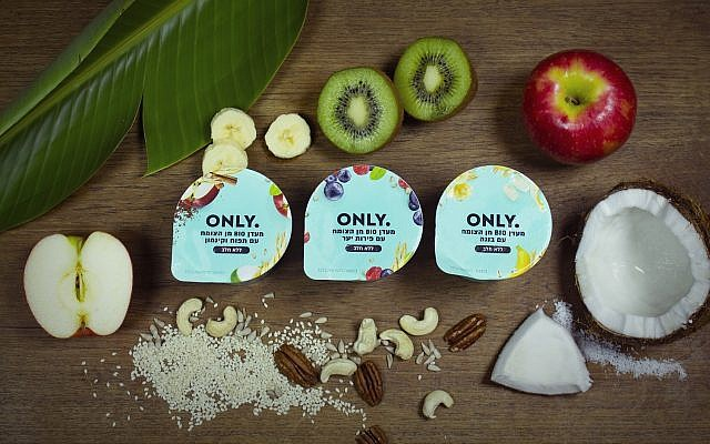 Israeli startup Yofix Probiotics Ltd. has started sales in Israel of its first dairy-free, soy-free range of yogurt alternatives, aimed at vegans and lactose-intolerant consumers (Courtesy)
