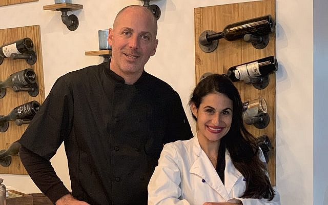 Israeli chef Nir Zook, left, and Orly Gottesman, founder of Breads by Orly, are opening Modern Bread & Bagels, which moonlights as gourmet restaurant Arba. (Courtesy)