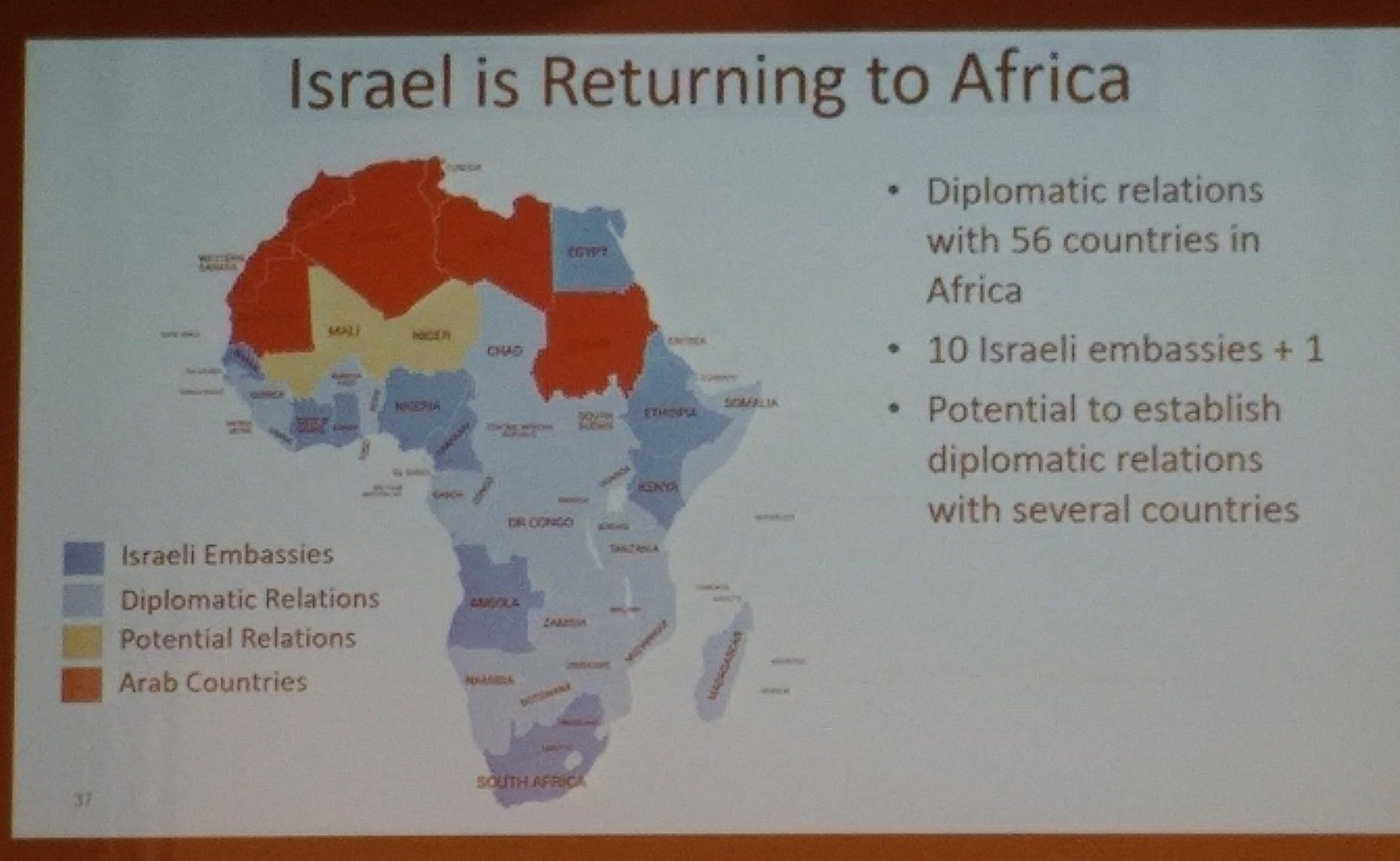 Map Shown By Pm Shows Israel Having Potential Relations With Mali